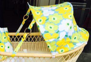 黄色い花模様の幌