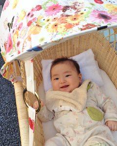 いつも赤ちゃんからママの顔が見えます。