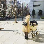 新生児から使えます。プスプス。ブラック・ゴールド車輪
